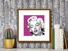 Marilyn Monroe Pink plakat obraz 40x40cm (3)