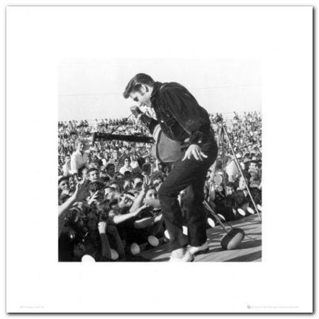 Elvis - Stage plakat obraz 40x40cm (1)
