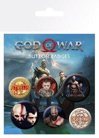 GOD OF WAR przypinki zestaw 2+4