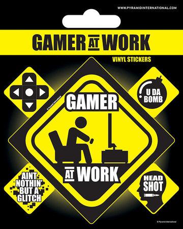 GAMER AT WORK naklejki winylowe (1)