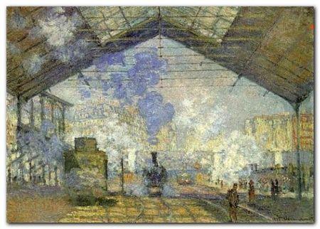 La Gare St-Lazare plakat obraz 70x50cm (1)