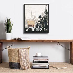 White Russian plakat obraz 24x30cm