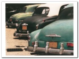 Cuban Cars IV plakat obraz 40x30cm