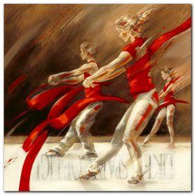 Dancing Ribbons plakat obraz 70x70cm
