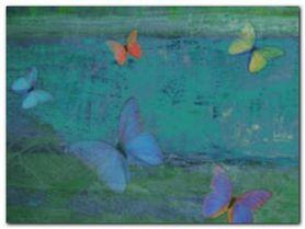 Schmetterling Turkis plakat obraz 80x60cm