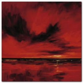 RED NIGHT 2 plakat obraz 50x50cm