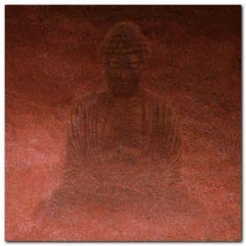 Red Buddha plakat obraz 50x50cm