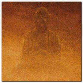 Yellow Buddha plakat obraz 50x50cm
