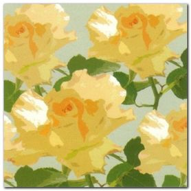 Yellow Blooms plakat obraz 50x50cm