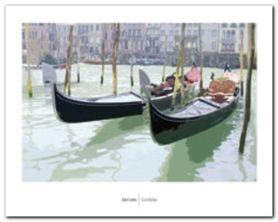 Gondolas plakat obraz 50x40cm
