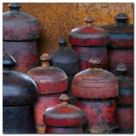 Wooden Jars plakat obraz 30x30cm