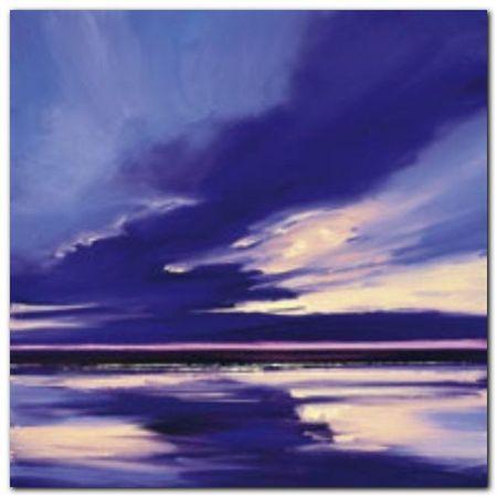 Blue Night 2 plakat obraz 30x30cm (1)