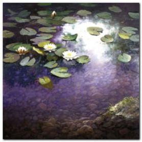 Waterlilies 1 plakat obraz 30x30cm