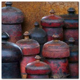 Wooden Jars plakat obraz 50x50cm
