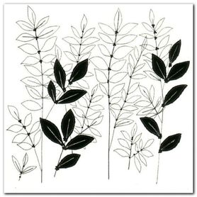 White Stitch Floral plakat obraz 30x30cm