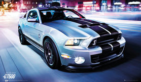 FORD SHELBY GT 500 plakat 91x53cm