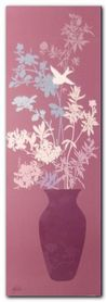 Mauve Blossom Vase plakat obraz 25x70cm
