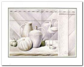 White Pimpkin plakat obraz 50x40cm