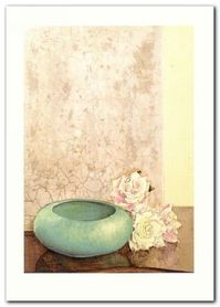 Three Roses And Bowl plakat obraz 50x70cm