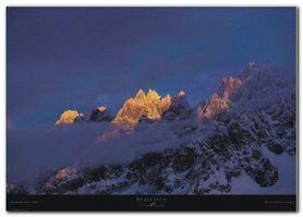 Mont Blanc plakat obraz 70x50cm