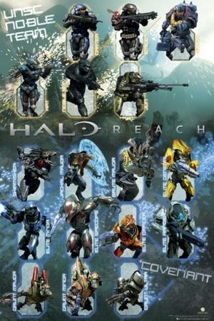 HALO REACH CHARACTERS plakat 61x91cm (1)