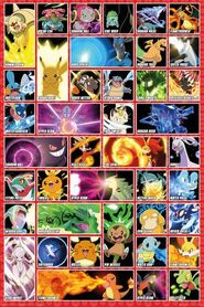 POKEMON MOVES plakat 61x91cm