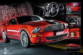 MUSTANG GT500 plakat 91x61cm