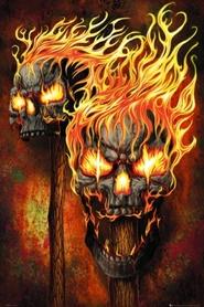 FLAMING SKULLS plakat 61x91cm