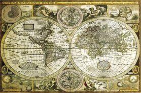 WORLD MAP plakat 91x61cm