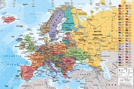 MAPA EUROPY plakat 91x61cm