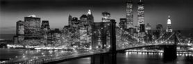 NEW YORK MANHATTAN BLACK - BERENHOLTZ plakat 90x30cm