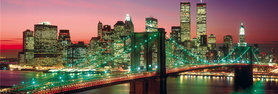 NEW YORK MANHATTAN COLOUR - BERENHOLTZ plakat 90x30cm