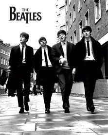 THE BEATLES IN LONDON plakat 40x50cm