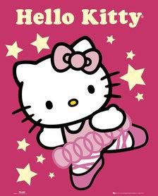 HELLO KITTY BALLERINA plakat 40x50cm