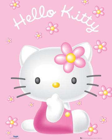 HELLO KITTY PINK plakat 40x50cm (1)