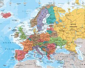 MAPA EUROPY plakat 50x40cm