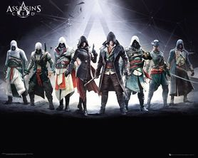 ASSASSINS CREED CHARACTERS plakat 50x40cm