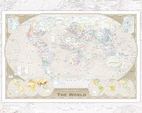 WORLD MAP TRIPEL plakat 50x40cm