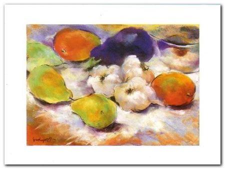 Garlic With Pears plakat obraz 80x60cm (1)