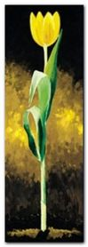 Gelbe Tulpe plakat obraz 25x70cm