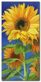 Sonnenblummen Am Tag plakat obraz 50x100cm
