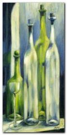 Flaschen Mit Glas plakat obraz 50x100cm