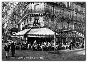 Saint Germain Des Pres plakat obraz 70x50cm