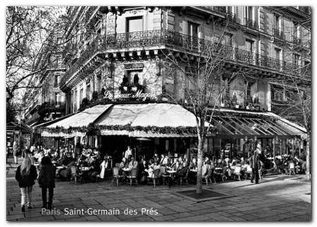 Saint Germain Des Pres plakat obraz 70x50cm (1)