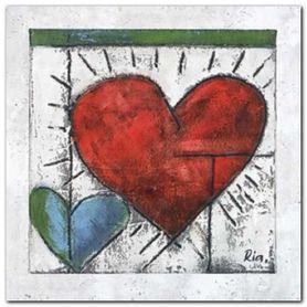 Heart II plakat obraz 60x60cm
