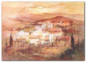 Italian Village II plakat obraz 70x50cm