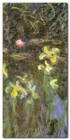 Iris Jaunes plakat obraz 50x100cm