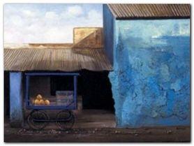 La Rue De Mandawa plakat obraz 40x30cm