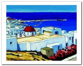 Mykonos plakat obraz 50x40cm
