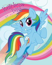 MY LITTLE PONY RAINBOW DASH plakat 40x50cm
